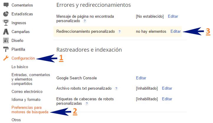 ¿Para qué sirve el redireccionamiento personalizado de mi blog de Blogger?