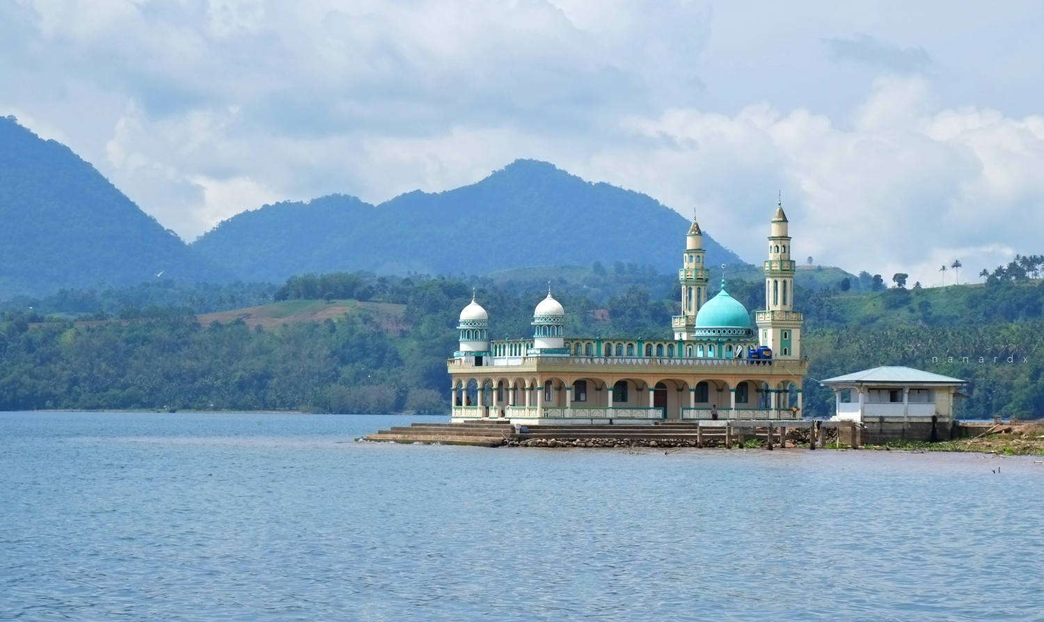 One of the beautiful mosques at Lanao Lake in Lanao del Sur