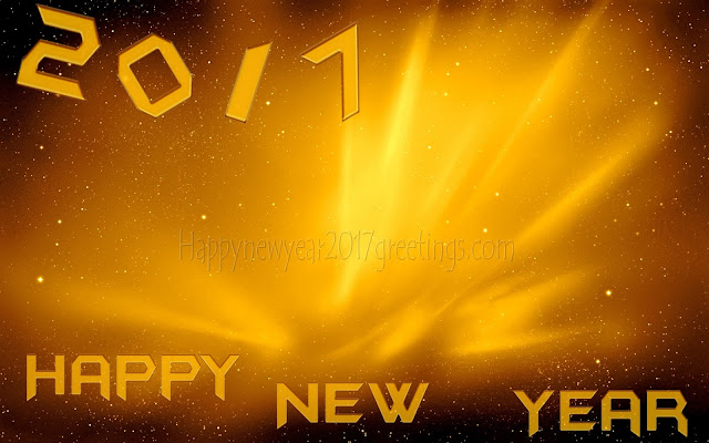 Happy New Year 2017 Golden Wallpapers