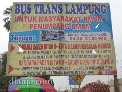 jurusan dari dan ke Bandara Raden Inten