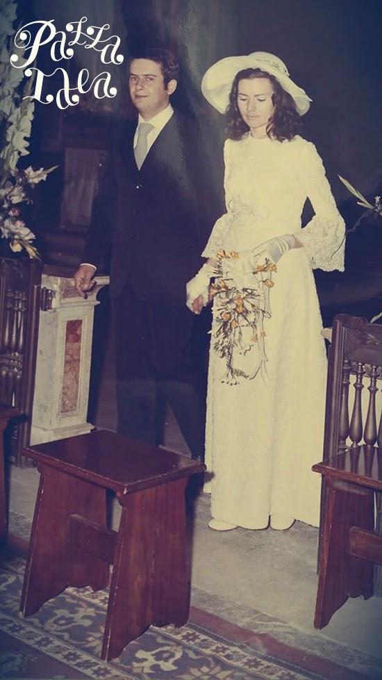 Bouquet Sposa Anni 70.Pazza Idea Carla La Sposa Con Il Cappello 1972