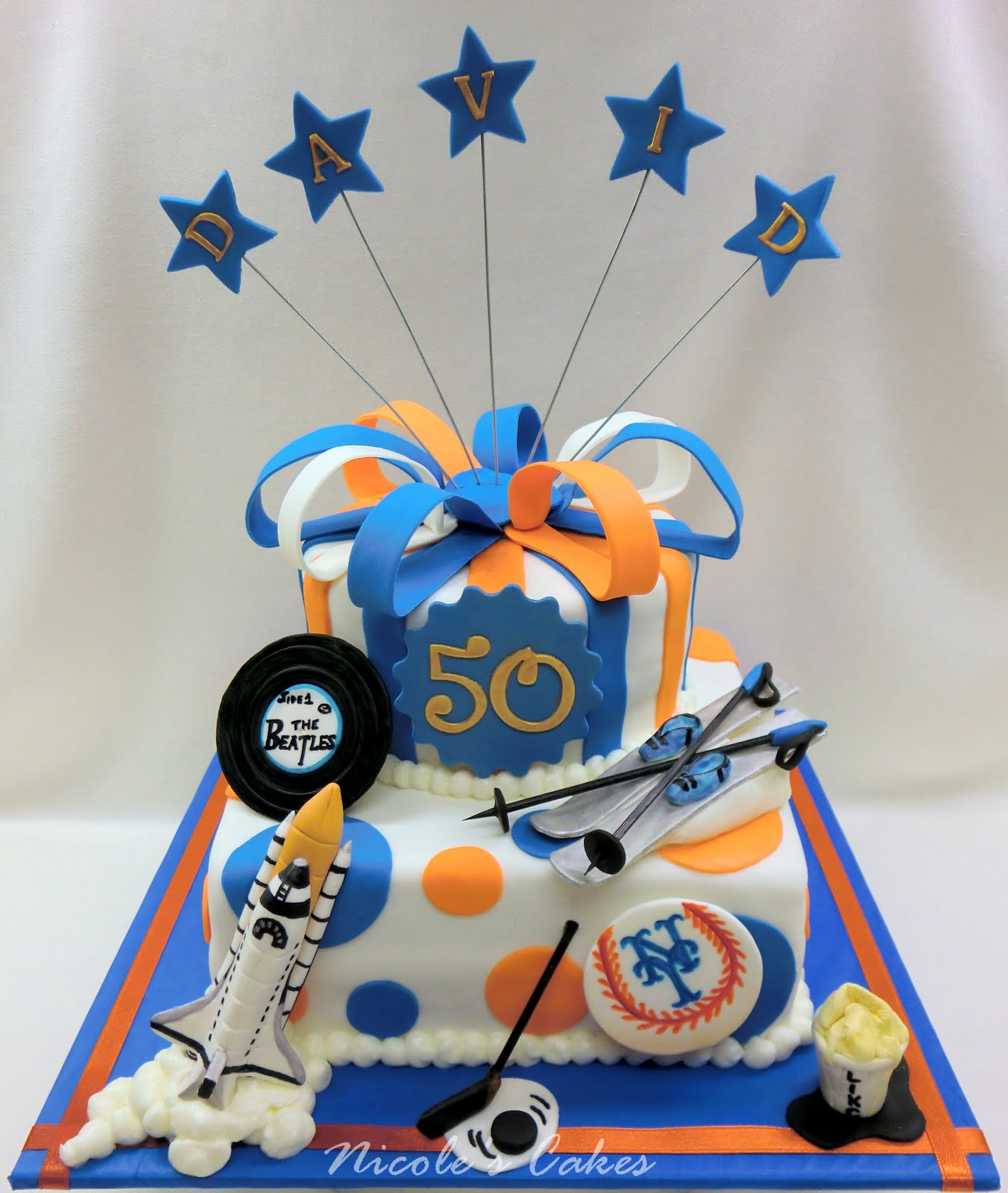 On Birthday Cakes Mets Themed 50th Birthday Tribute