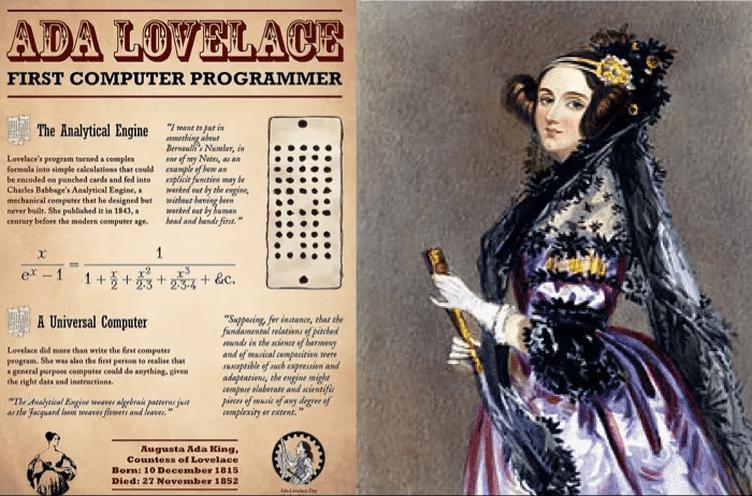 Ada Lovelace, considerada a primeira programadora da história