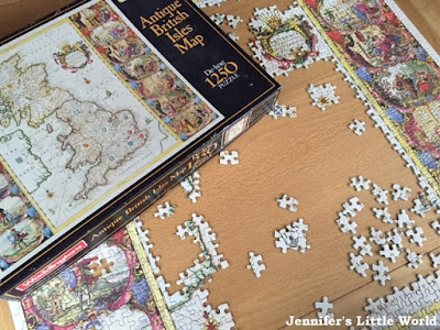British Isles jigsaw in progress