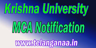 Krishna University MCA Notification