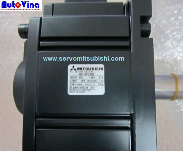 Tổng đại lý bán động cơ servo 1kw Mitsusbishi HC-SFS202 và HC-SFS202B