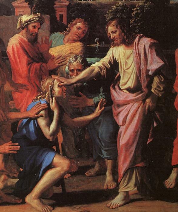 L'aveugle de Jéricho par Poussin