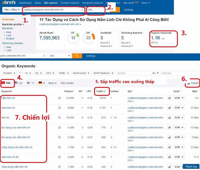 Tìm từ khóa từ website đối thủ