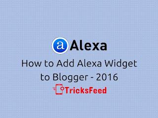 add alexa widget to blogger