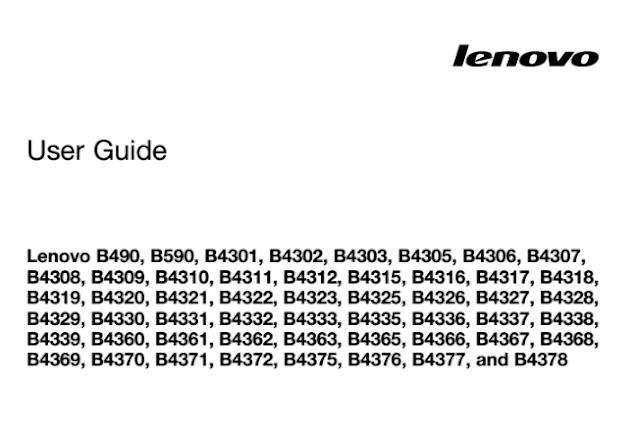 Lenovo B590 Manual