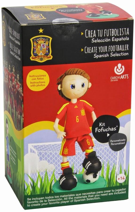 fofucha kit creativo, diseño selección fútbol España