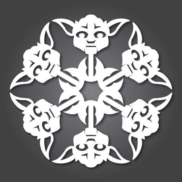 Star Wars DIY paper Snowflakes