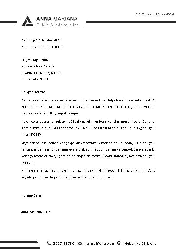Kop Surat Lamaran Kerja 4