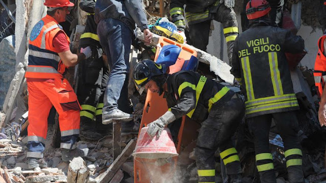 Aumenta a 73 el balance de muertos por el terremoto de Italia