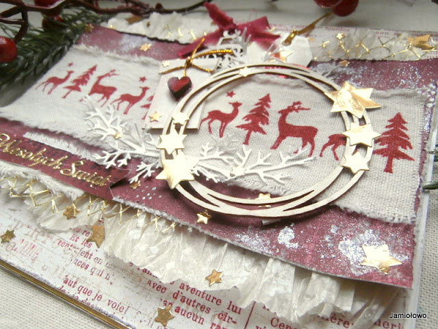 kartka świąteczna z reniferami