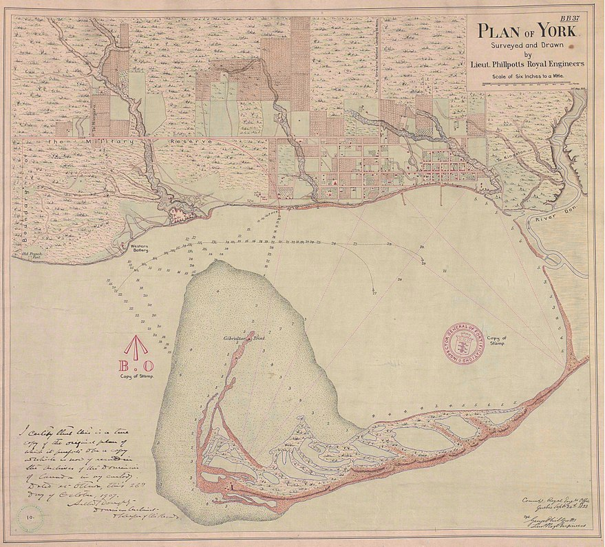 1818 Plan of York (Toronto) by G. Phillpotts - copy