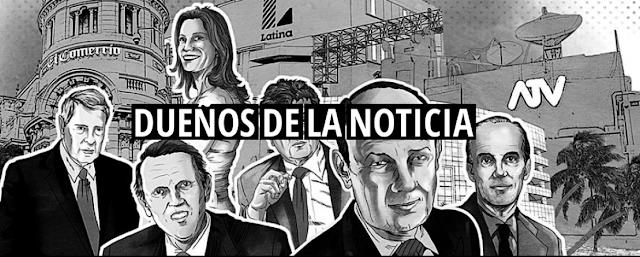 Revelan quiénes son los dueños de la noticia en el Perú