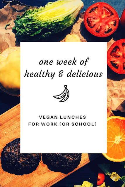 One full week of vegan lunch ideas for work or school.