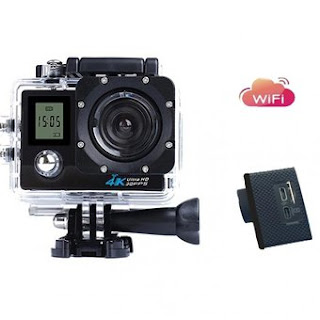 action camera wifi 4k con telecomando