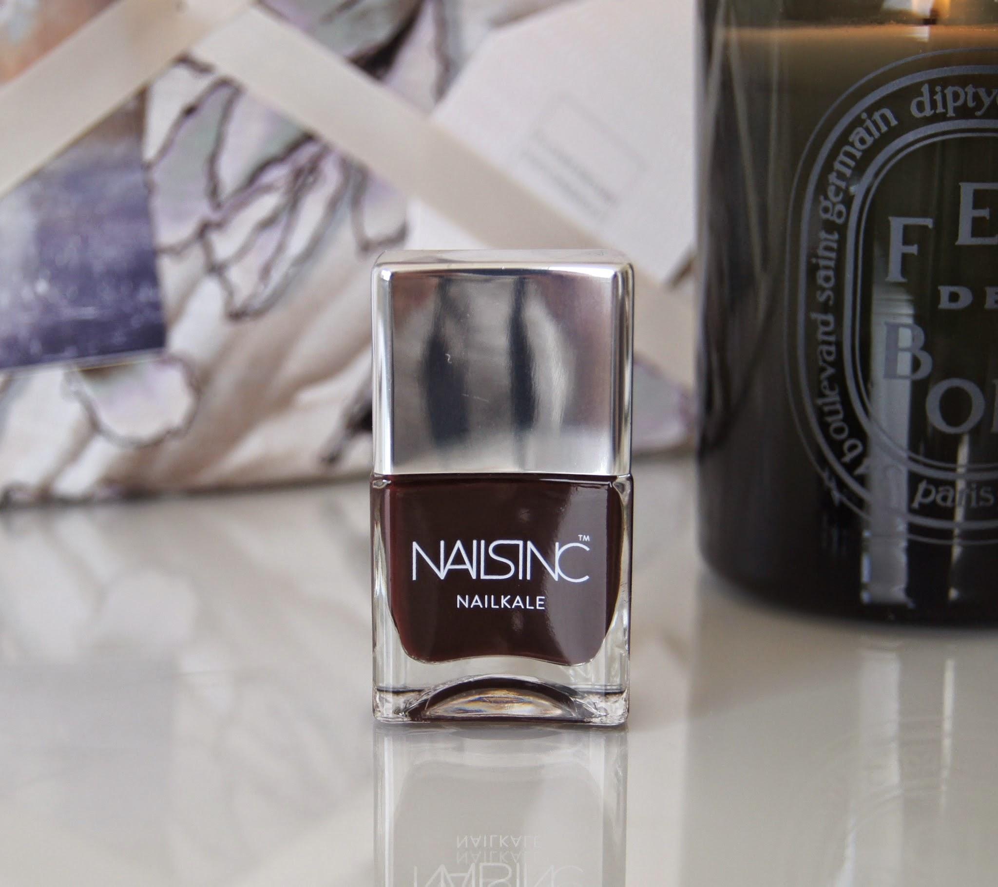 nails inc nail kale polish victoria review swatch