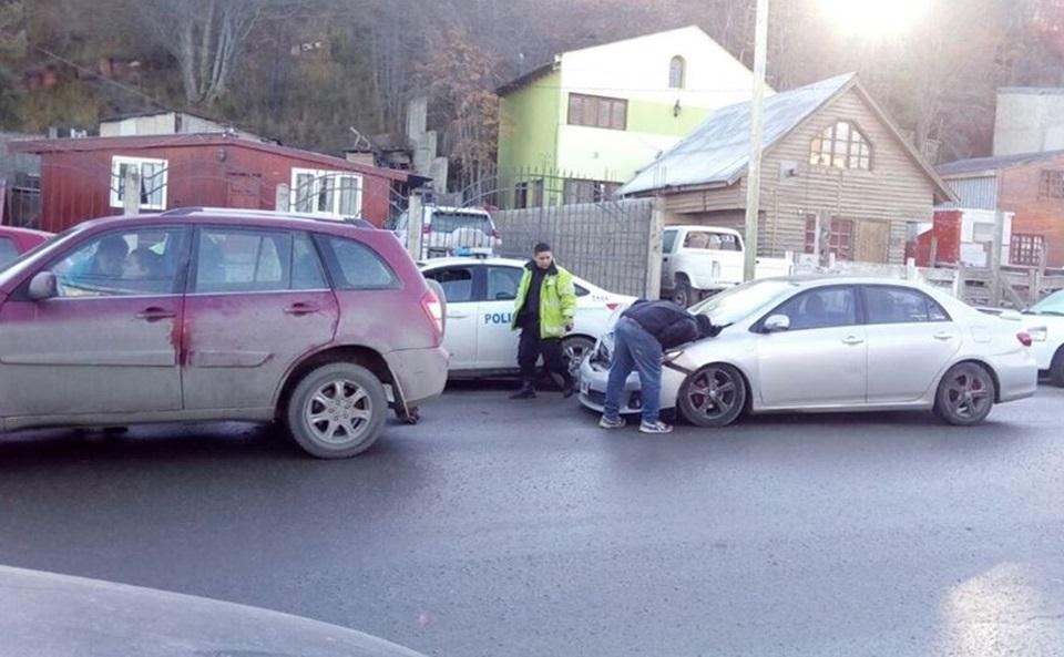 Choque multiple en Ushuaia