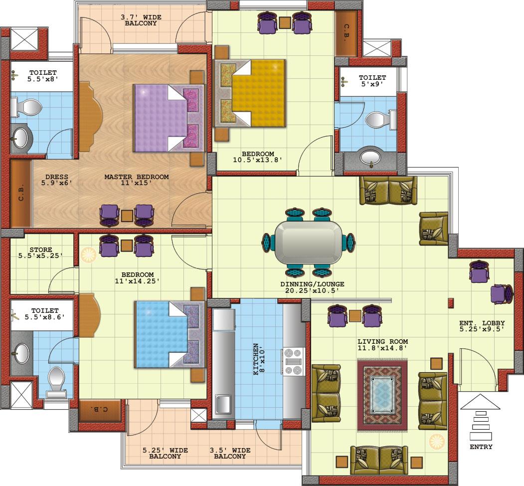 Apartment plans - Apartment designs and floor plans ...