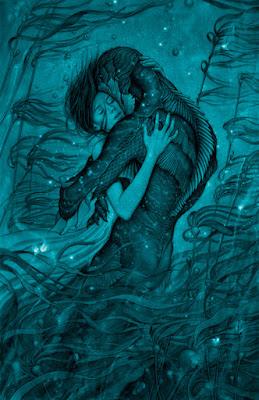 LA FORMA DEL AGUA, de Guillermo del Toro - ilustracion cartel