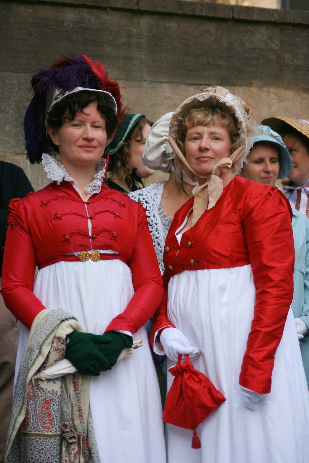 Natalie Garbett and Rachel Knowles  at the Jane Austen Grand  Regency Promenade in Bath