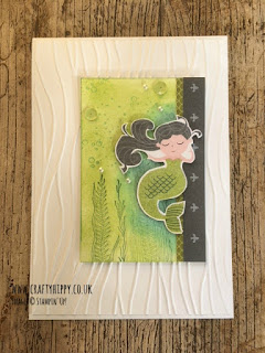 Make a Mermaid Card using the Myths & Magic Specialty Designer Series Paper from Stampin' Up!