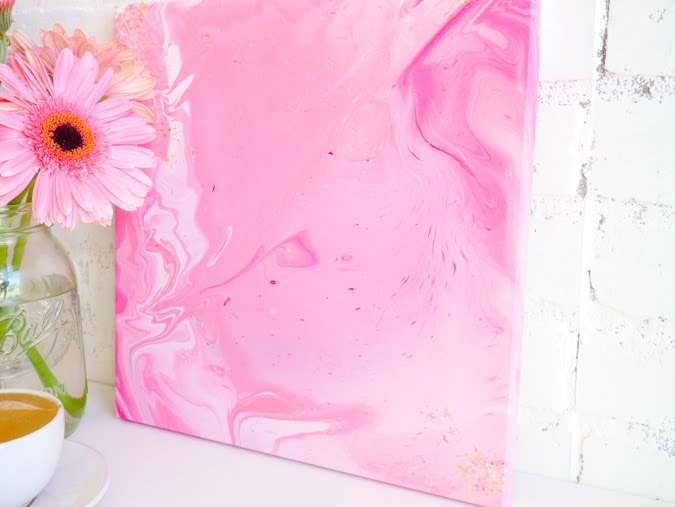 American Crafts Color Pour Canvas by Jamie Pate | @jamiepate for @americancrafts