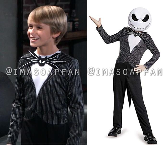 Jake Spencer, Hudson West, Jack Skellington Halloween Costume, General Hospital, GH