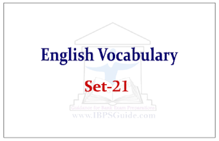 SBI PO Exam- English Vocabulary Set-21