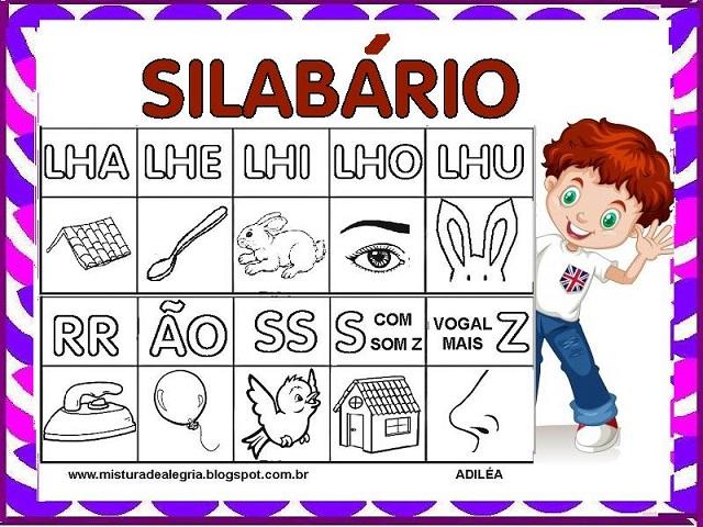 Silabario Para Alfabetizacao Silabas Complexas Mistura De Alegria