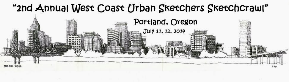 2nd Annual West Coast Urban Sketchers Sketchcrawl
