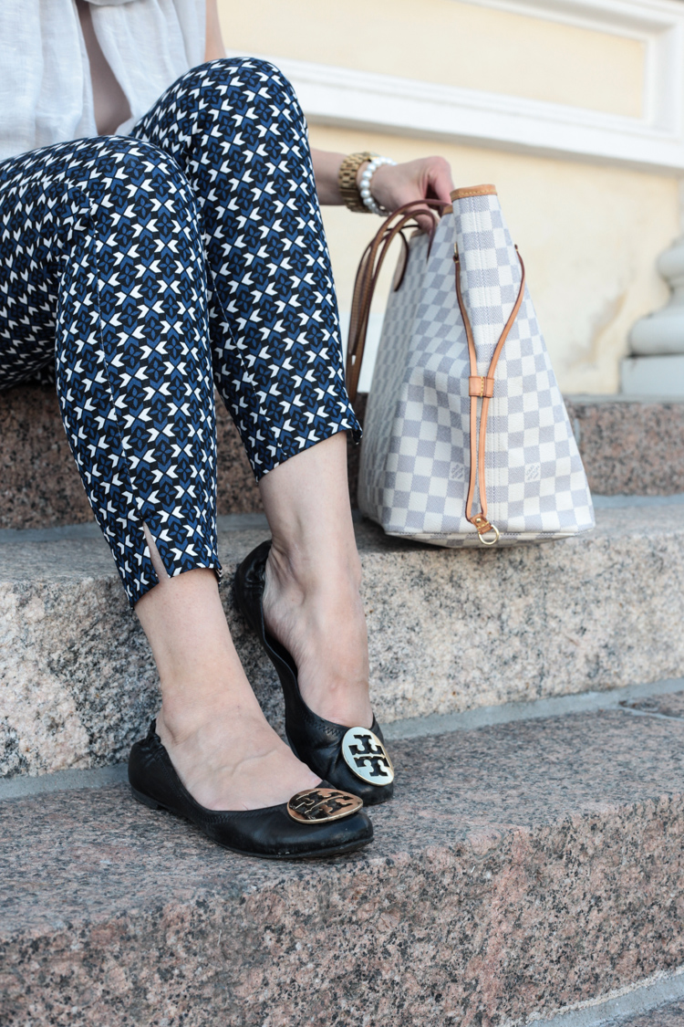 classy outfit H&M trousers Louis Vuitton Never Full Azur