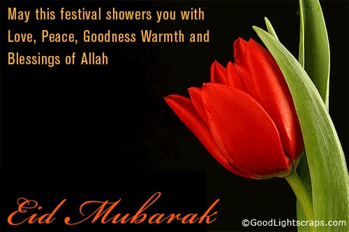Eid Mubarak Wishes Sms in Hindi, English, Arabic for Girlfriend