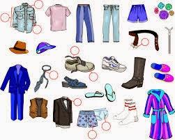 ملابس الرجال - تعليم الانجليزية بسهولة