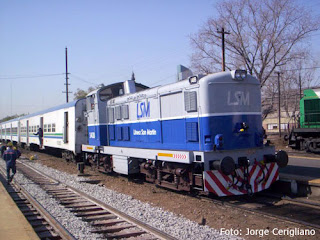 Locomotora del Tren San Martín Interurbano