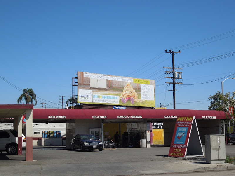 Speak up Kids fast food billboard
