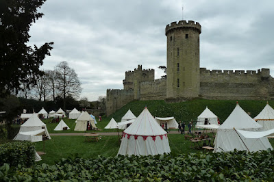 Tents outside Warwick Castle