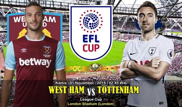 Prediksi West Ham VS Tottenham 1 November 2018
