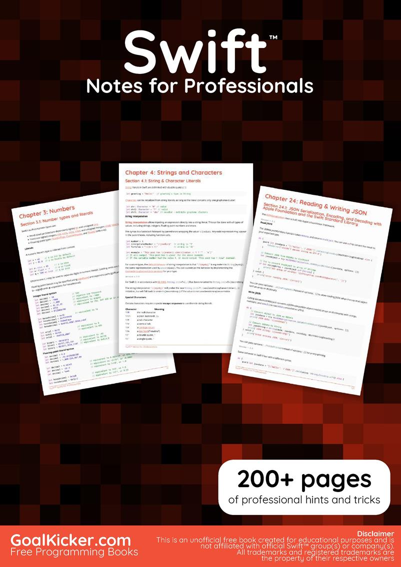 Swift Notes for Professionals book
