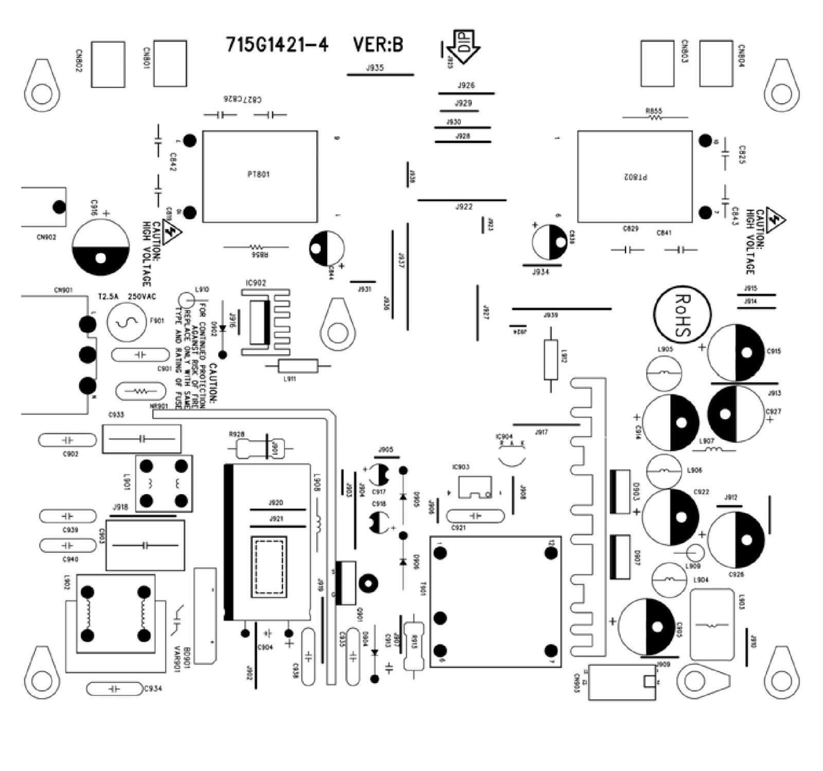 electro help hp vs19e aoc 19 inch lcd monitor power supply [ 1600 x 1499 Pixel ]