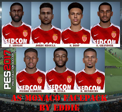 PES 2017 AS Monaco Facepack by Eddie Facemaker