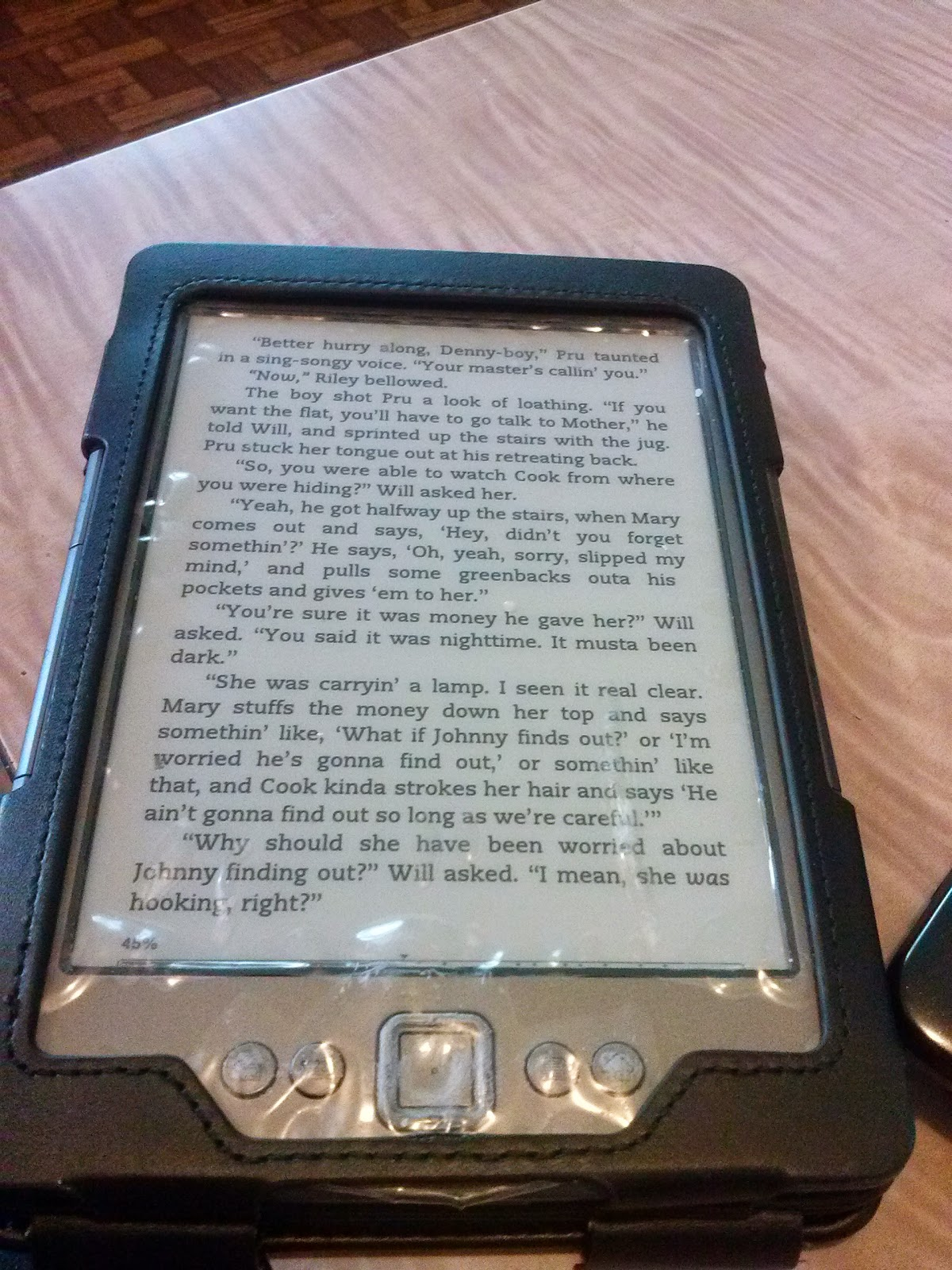 Loving reading on my kindle