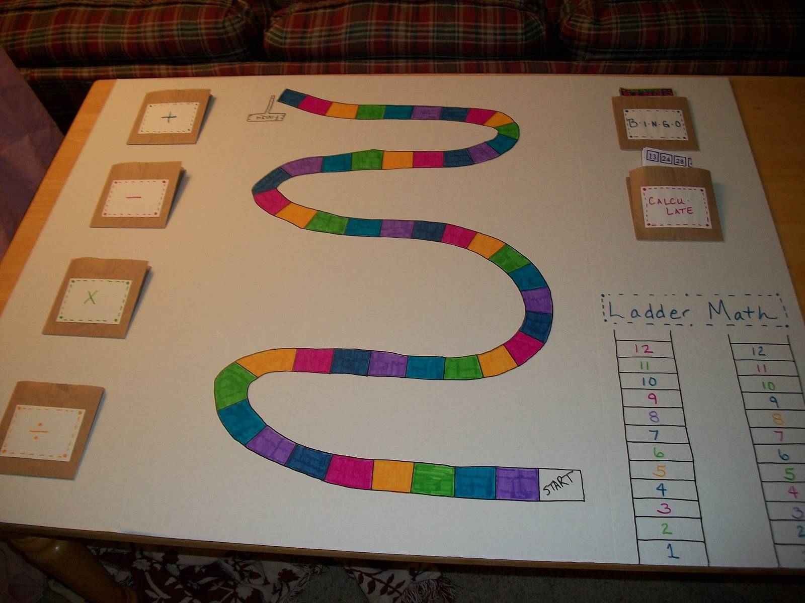 Make a math board game project manager, soccer online ...