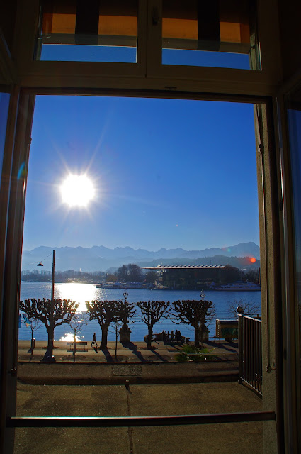 View of Lake Lucerne from Hotel Schweizerhof