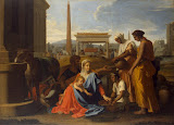 Holy Family in Egypt by Nicolas Poussin - Religious Paintings from Hermitage Museum