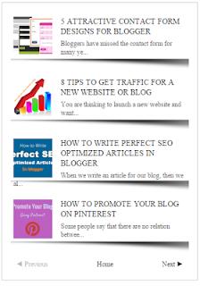 Page Nevigation Recent Posts Widget For Blogspot