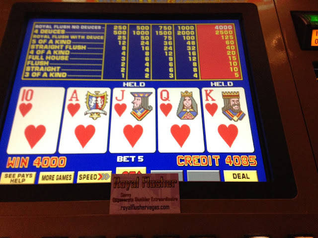 Royal Flush Video Poker Hearts Royal Flusher